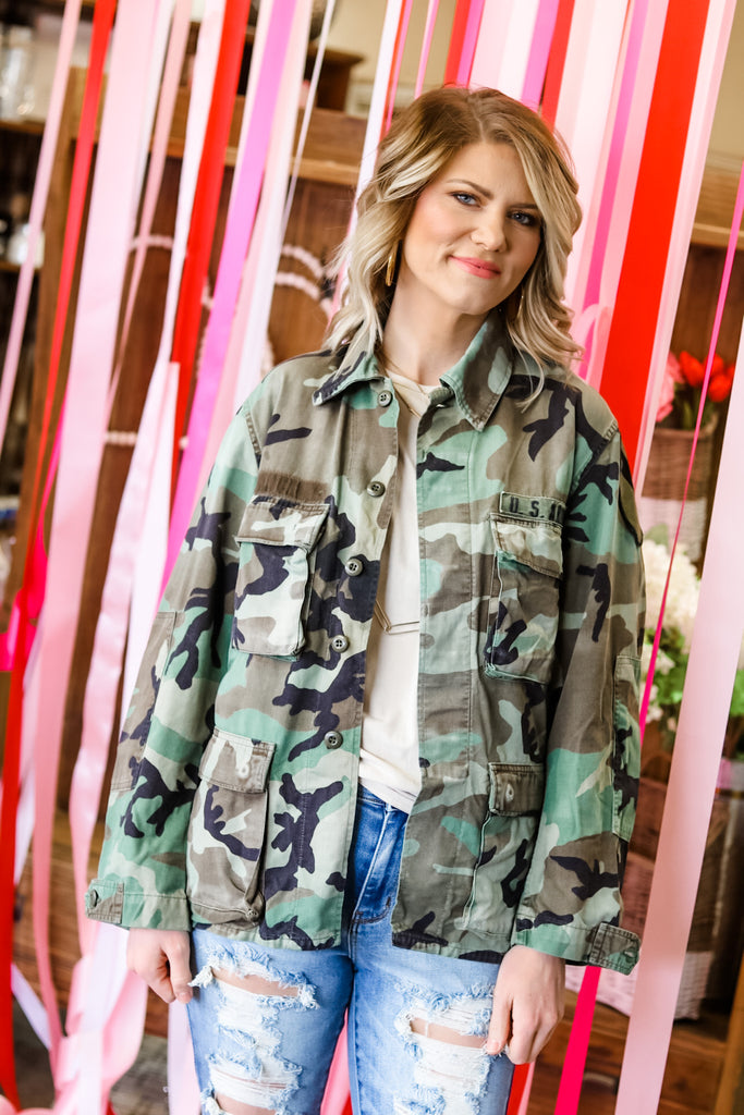 Retro Camo Love Jacket