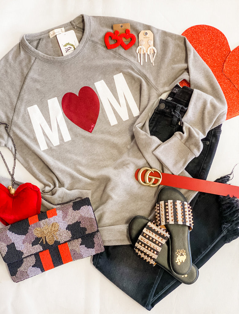 Mom Heart Long Sleeve