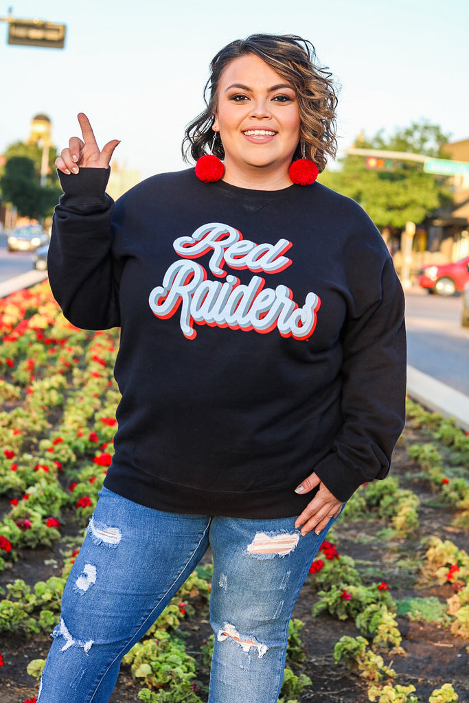 Red Raiders Black Fall Fling Pullover