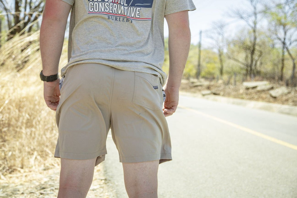 Cobblestone Khaki-Duck Pocket Shorts