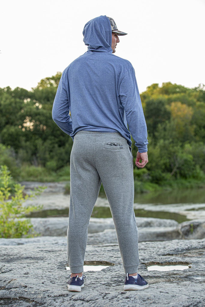 Grey Fleece Joggers- Flying Duck Pockets