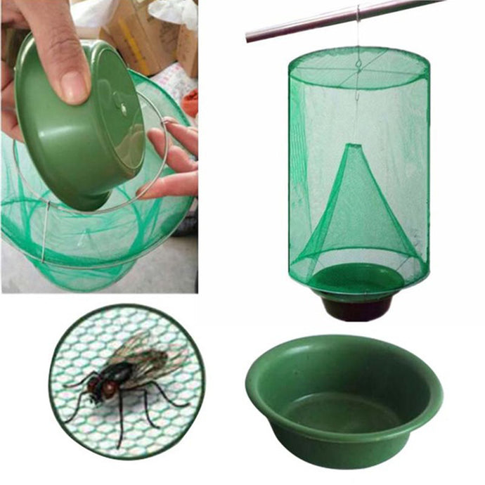 1PCS Hanging Flycatcher Reusable Folding Fly Trap Summer Mosquito Trap Top Catcher Fly Wasp Insect Bug Killer Fly catcher