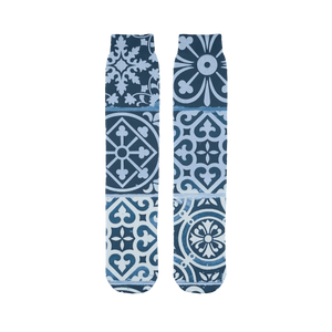 211INC Blue Celtic Printed Tube Sock - 211 INC