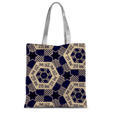 211INC Navy/Tan Classic Printed Tote Bag - 211 INC