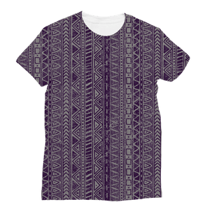 211INC Womens Purple Roads Printed T-Shirt - 211 INC