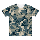 211INC Mens Green Camouflage Adult T-Shirt - 211 INC