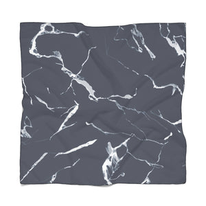 211INC Navy Marble Poly Scarf