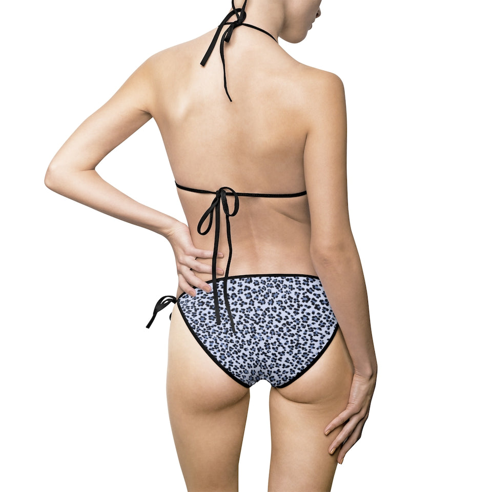 211INC Women's Blue Cheetah Bikini Swimsuit