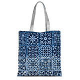 211INC Blue Patterned Classic Tote Bag - 211 INC