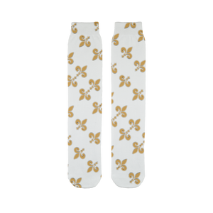 211INC Gold Fleur Sublimation Tube Sock