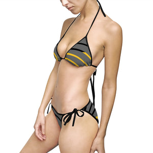 Womens gray two piece bikini 211INC
