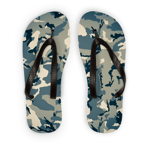 211INC Green Camouflage Adult Flip Flops - 211 INC