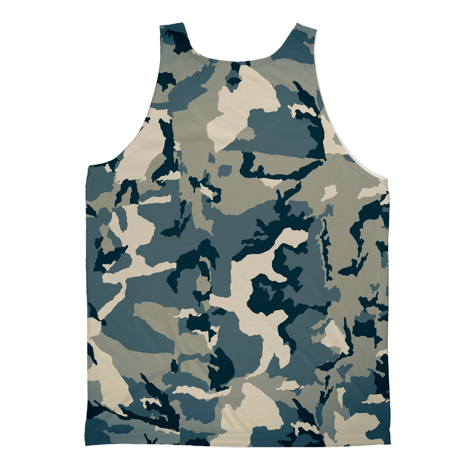 211INC Mens Green Camo Sublimation Adult Tank Top - 211 INC