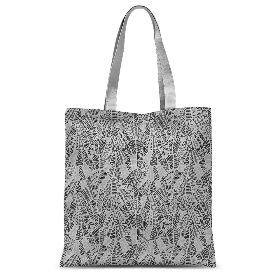 211INC Grey Patterned Classic Tote Bag - 211 INC