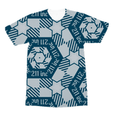 211INC Mens Teal/Grey Logo S/S T-Shirt - 211 INC