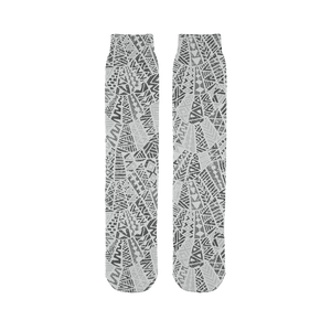 211INC Grey Wordsworth Printed Tube Sock - 211 INC