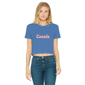 211INC Classic Women's Cropped Raw Edge T-Shirt