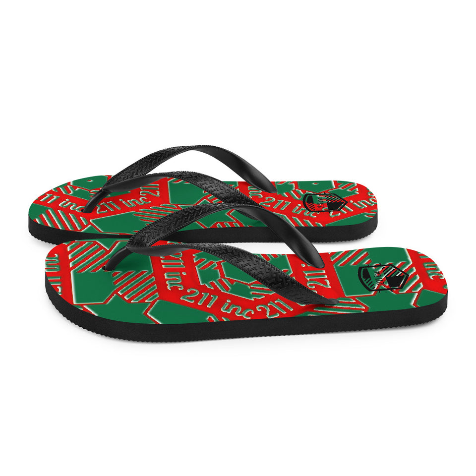 211INC Men's X-mas Flip-Flops