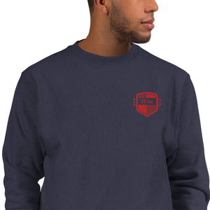 211INC Mens Red Crest Embroidered Sweatshirt