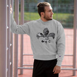 211INC Mens Camo Fleur-De-Lis Grey Sweatshirt - 211 INC
