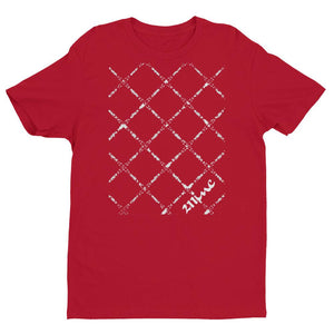 211INC Mens Red Fence short sleeve T-shirt - 211 INC