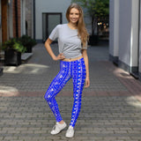 211INC Womens Royal Blue Tribal Leggings - 211 INC