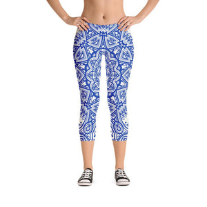 211INC Womens Blue China Capri Leggings - 211 INC