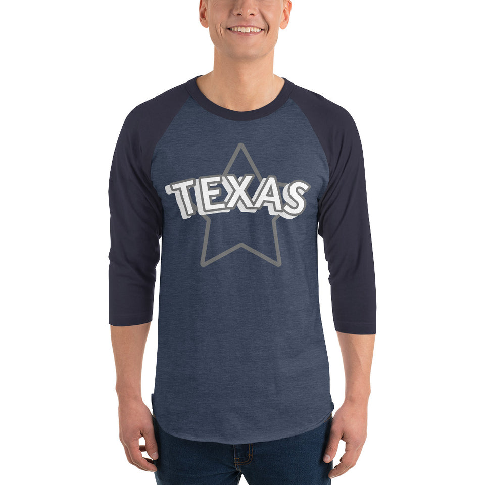 211INC Mens Lone Star 3/4 sleeve raglan shirt - 211 INC