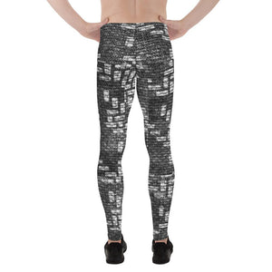 211INC Men's Black Labyrinth Leggings - 211 INC