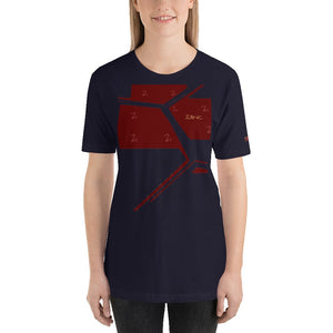 211INC Womens Navy Broken Glass S/S T-Shirt - 211 INC