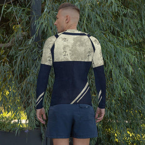211INC Men's Blue/Tan Gladiator Rash Guard - 211 INC