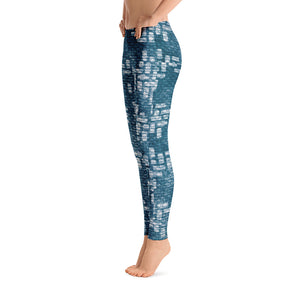 211INC Womens Teal Labyrinth Leggings