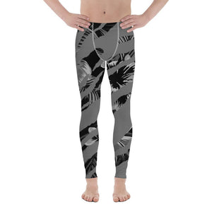211INC Men's Grey Striped Rain Forest Leggings - 211 INC
