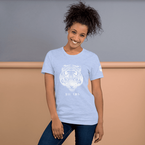 211INC Womens Sky Blue Tigers Head S/S T-Shirt - 211 INC