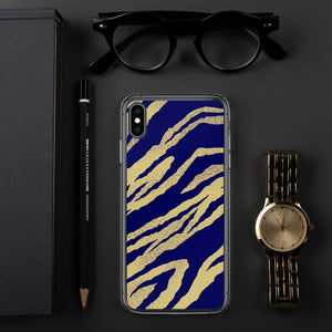 211INC iPhone Blue Tiger Print Case - 211 INC
