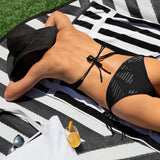 211INC Black Ghost Marks Bikini Swimsuit - 211 INC