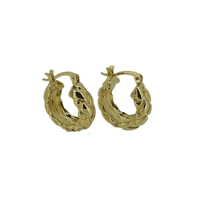 18k gold plated woven mini hoops