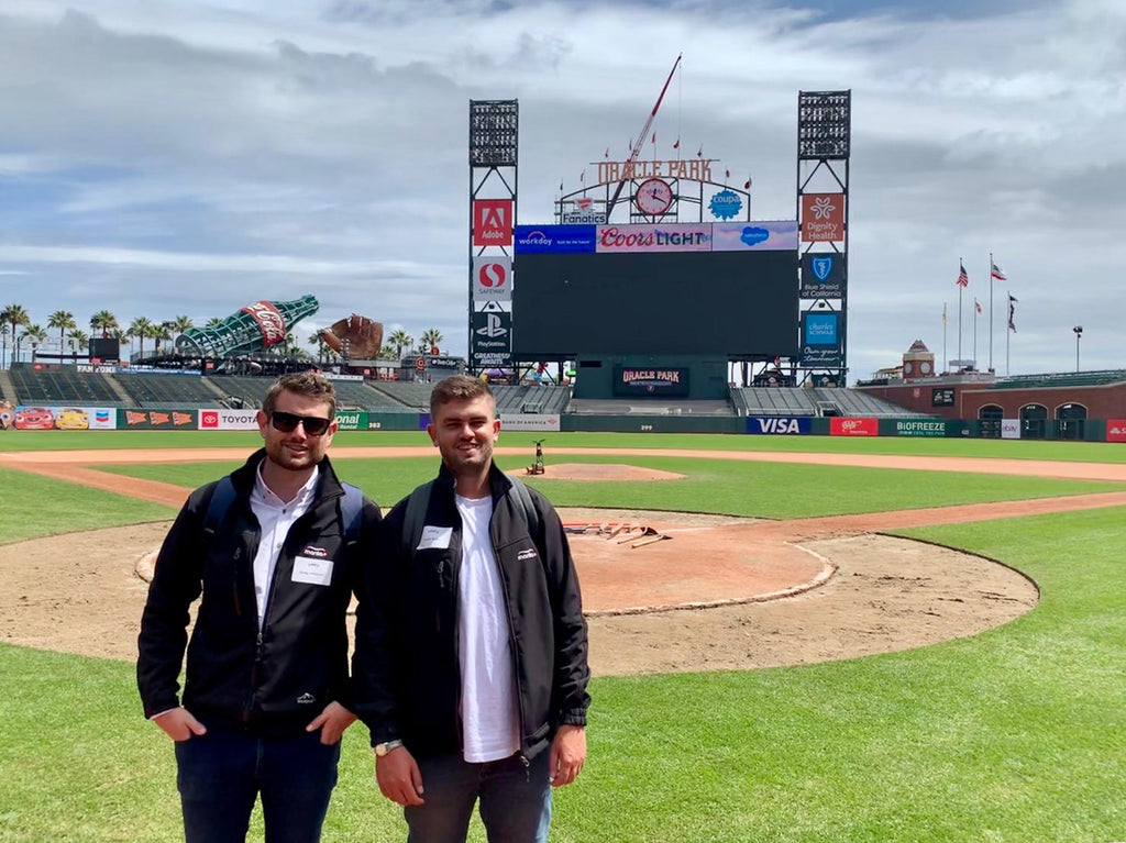 Greg and Louis at Oracle Park