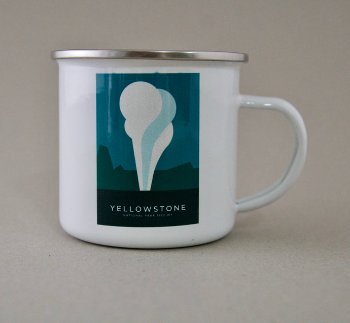 Yellowstone National Park Enamel Mug