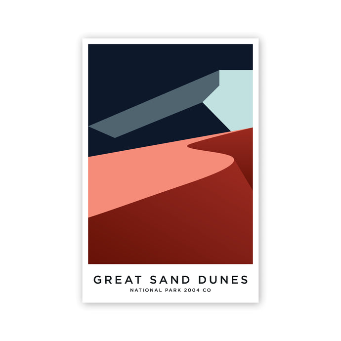 Great Sand Dunes 8 x 12 Poster