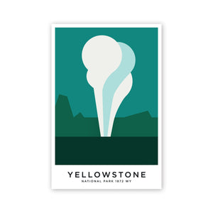 Yellowstone 8 x 12 Poster