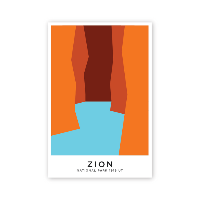 Zion 8 x 12 Poster