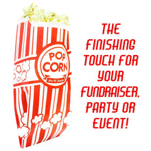 Popcorn Bags Coated for Leak/Tear Resistance. Single Serving 1oz Paper Sleeves in Nostalgic Red/White Design. Great Movie Theme Party Supplies Or for Old Fashioned Carnivals & Fundraisers! (1000)