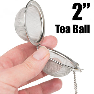 Premium Stainless Steel Tea Ball Infuser 2 Pack By Avant Grub. 2 Strainer Filters Loose Leaf Teas to Make The Perfect Cup or Pot. No Bags Required. Hook and Chain Make Removal A Breeze