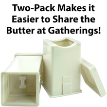 Mess-Free Butter Spreader 2 Pack by Avant Grub. Dishwasher Safe Corn Cob Butterer. Holder Spreads Butter Evenly On Pancakes, Waffles, Bagels, and Toast. Dispenser Ensures Freshness For Each Use.