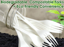 Biodegradable Forks Made From Non-GMO Plant-Based Plastic 50 Pack. Sturdy Utensils are Certified Compostable, Disposable, Eco-Friendly Cutlery With No Wood Taste. Safe for Hot and Cold Foods!
