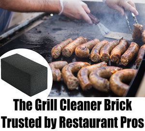 Commercial Grade Grill Cleaning Brick Bulk. Pumice Stone Cleaner Tool Cleans and Sanitizes Restaurant Flat Top Grills or Griddles Effectively Without Harsh Chemicals or Abrasives