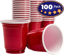 Premium Red Disposable Shot Glass 100 Pack By Avant Grub. 2 Oz Mini Plastic Cup Great For Parties With Beer Pong, Bombs and Jello Shots. Use Shooter To Serve Condiments, Snacks and Samples At Tastings
