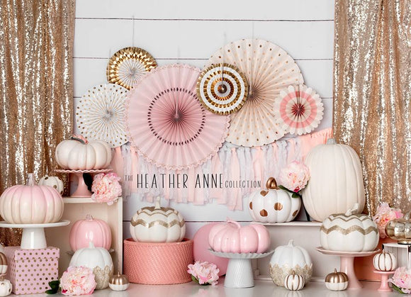 Delicate Pink Pumpkin Party 60hx80w HA