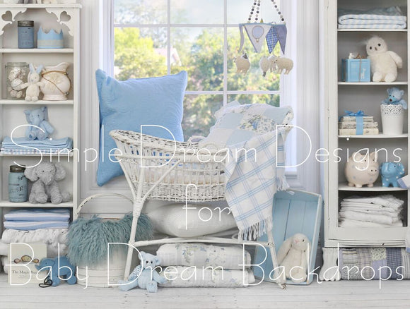 Blue Bassinet - 60x80 Long